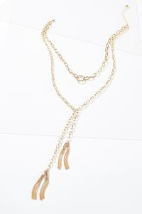 Layered Tassel Y-Necklace