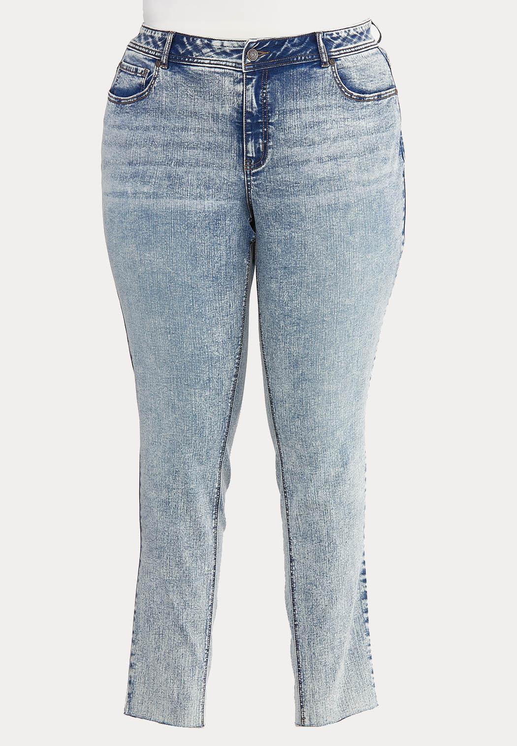 Plus Size Acid Wash Skinny Jeans