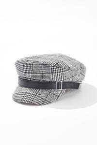 Buckle Plaid Hat