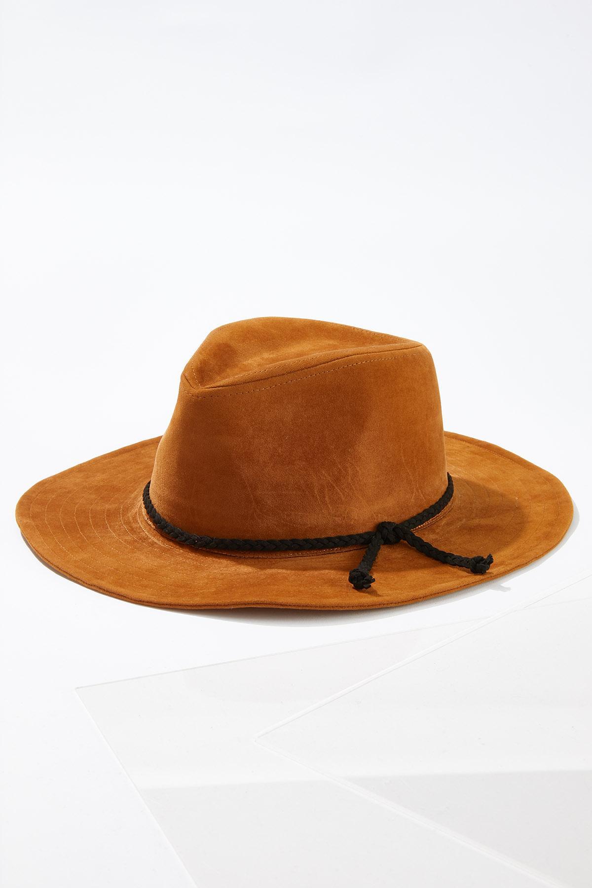 Faux Suede Panama Hat
