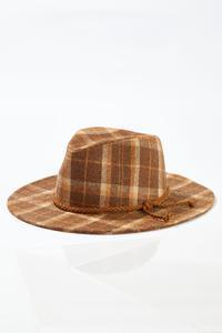 Plaid Panama Hat