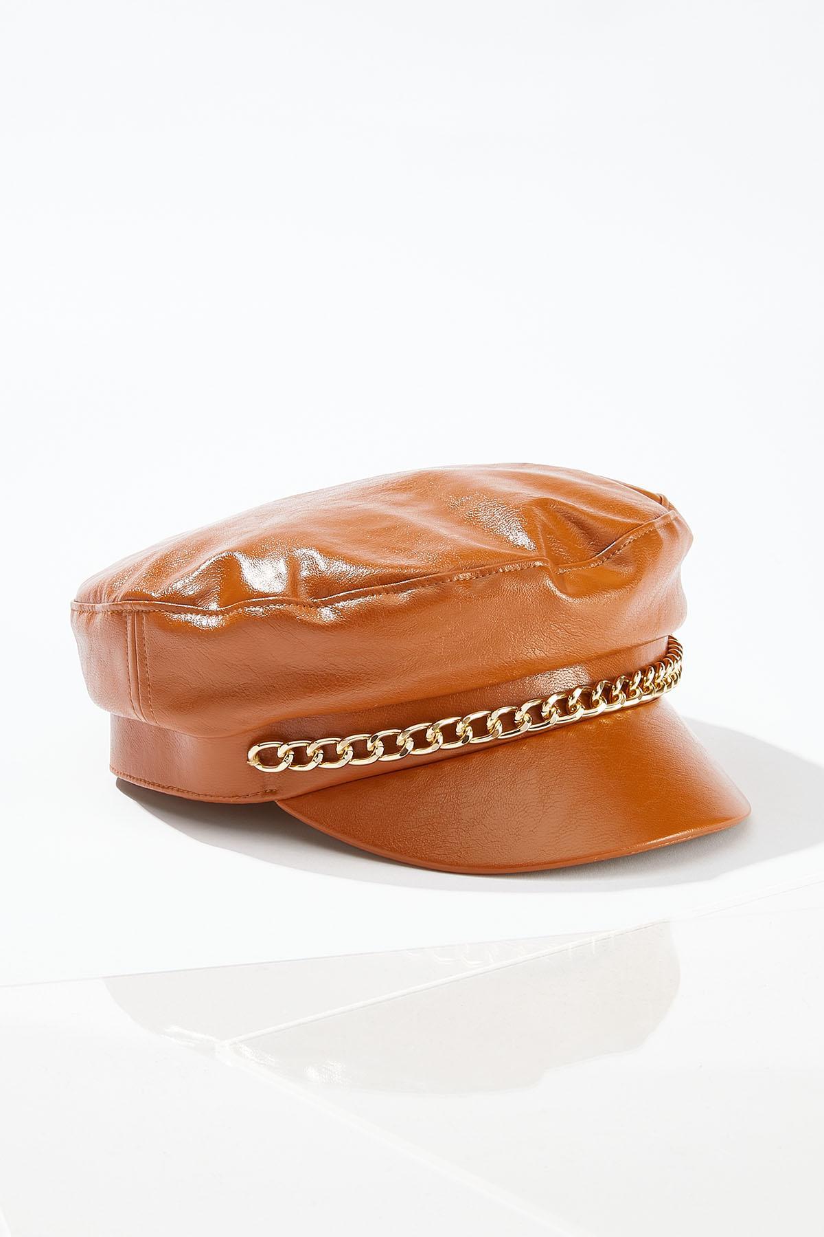Chain Detail Cabbie Hat