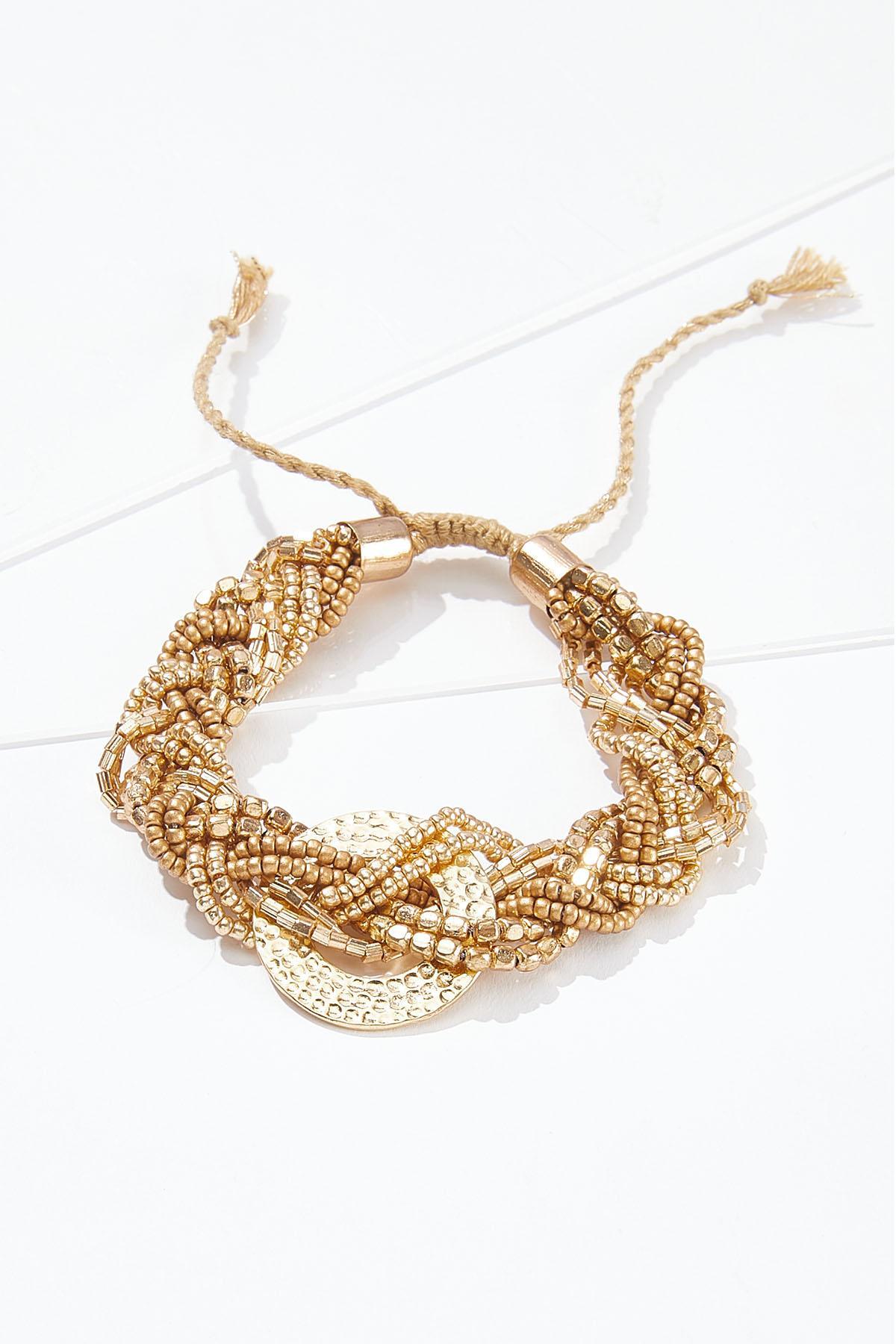 Braided Pull-String Bracelet