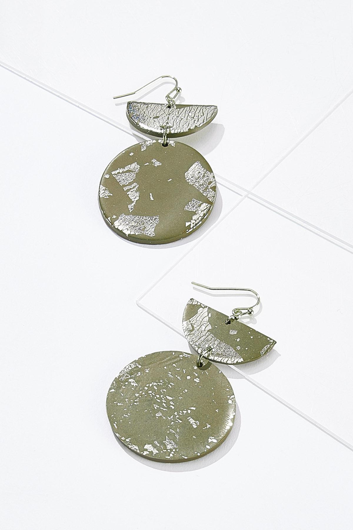 Geo Shape Dangle Earrings