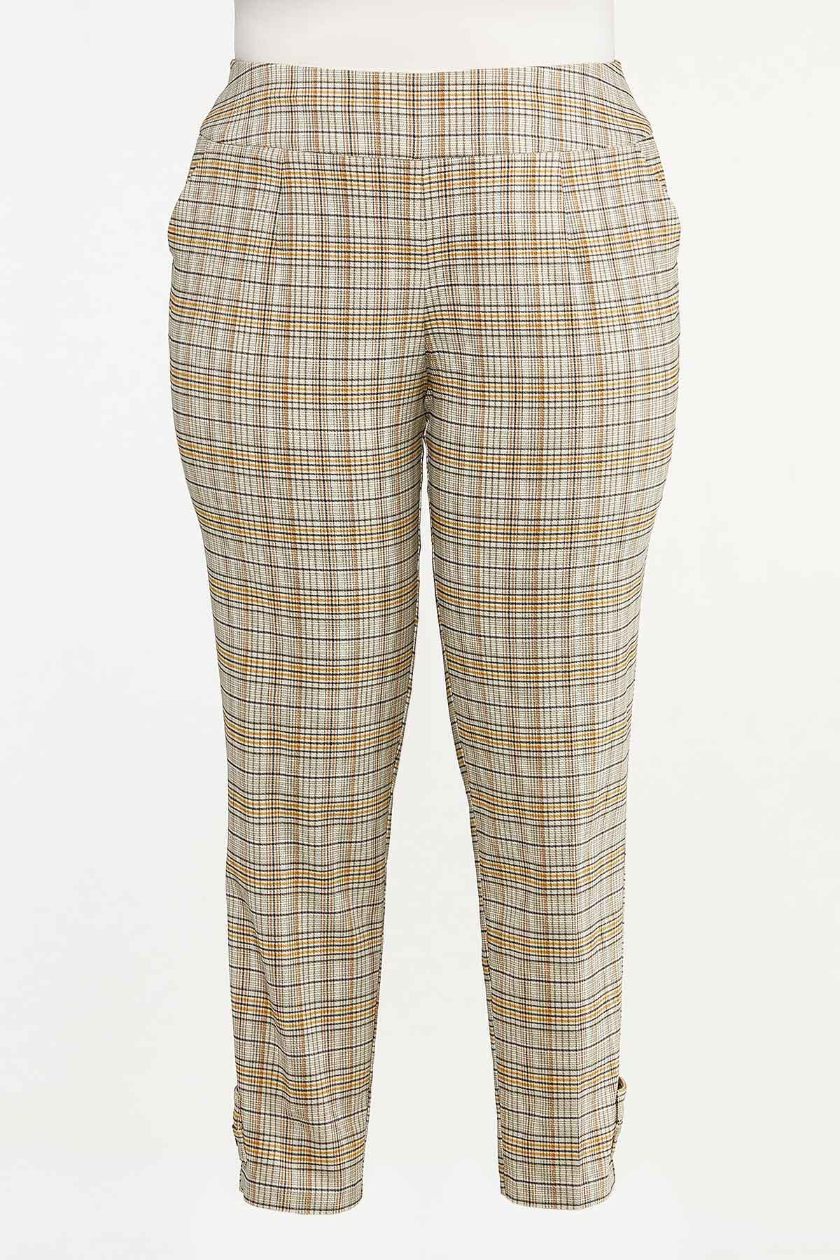 Plus Size Gold Bengaline Pants