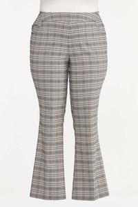 Plus Size Plaid Bengaline Pants