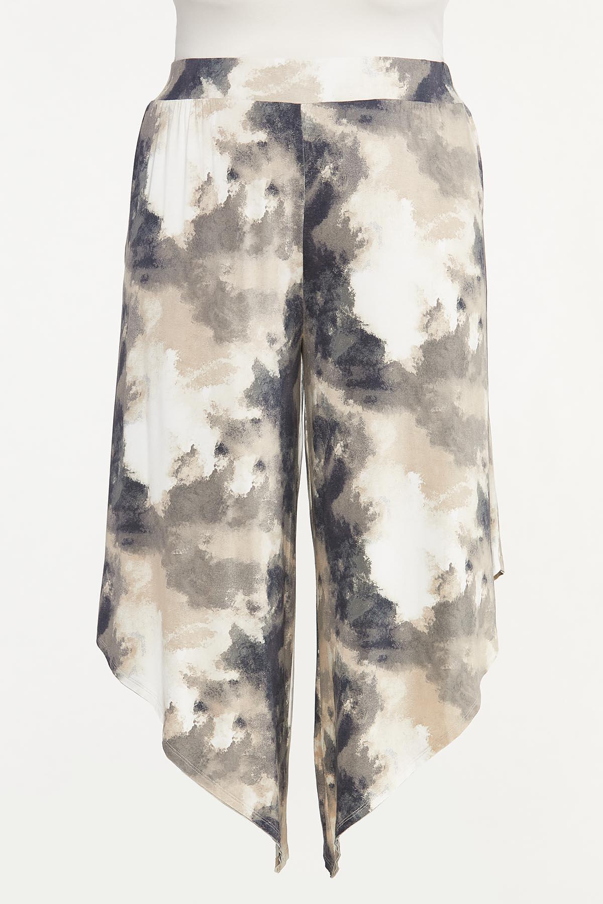 Plus Size Tie Dye Pull-On Genie Pants