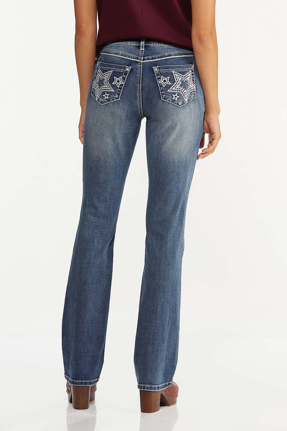 Star Studded Bootcut Jeans