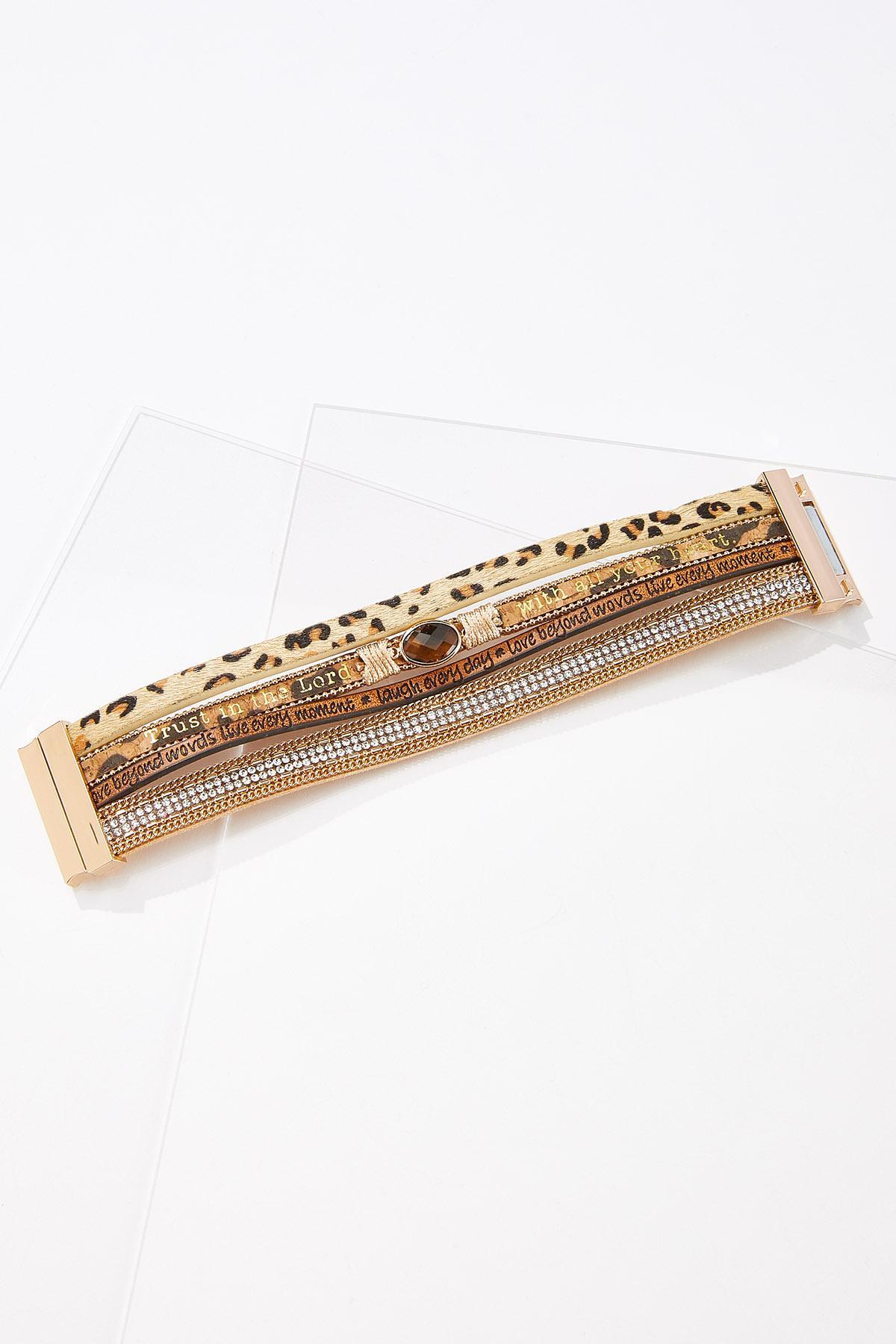 Inspirational Animal Print Cord Bracelet