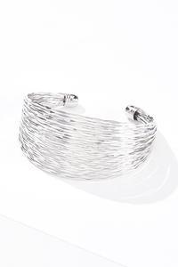 Silver Textured Cuff