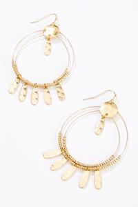 Hammered Metal Wire Earrings