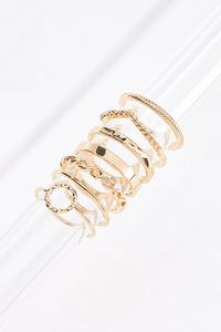 Mixed Textured Gold Ring Set