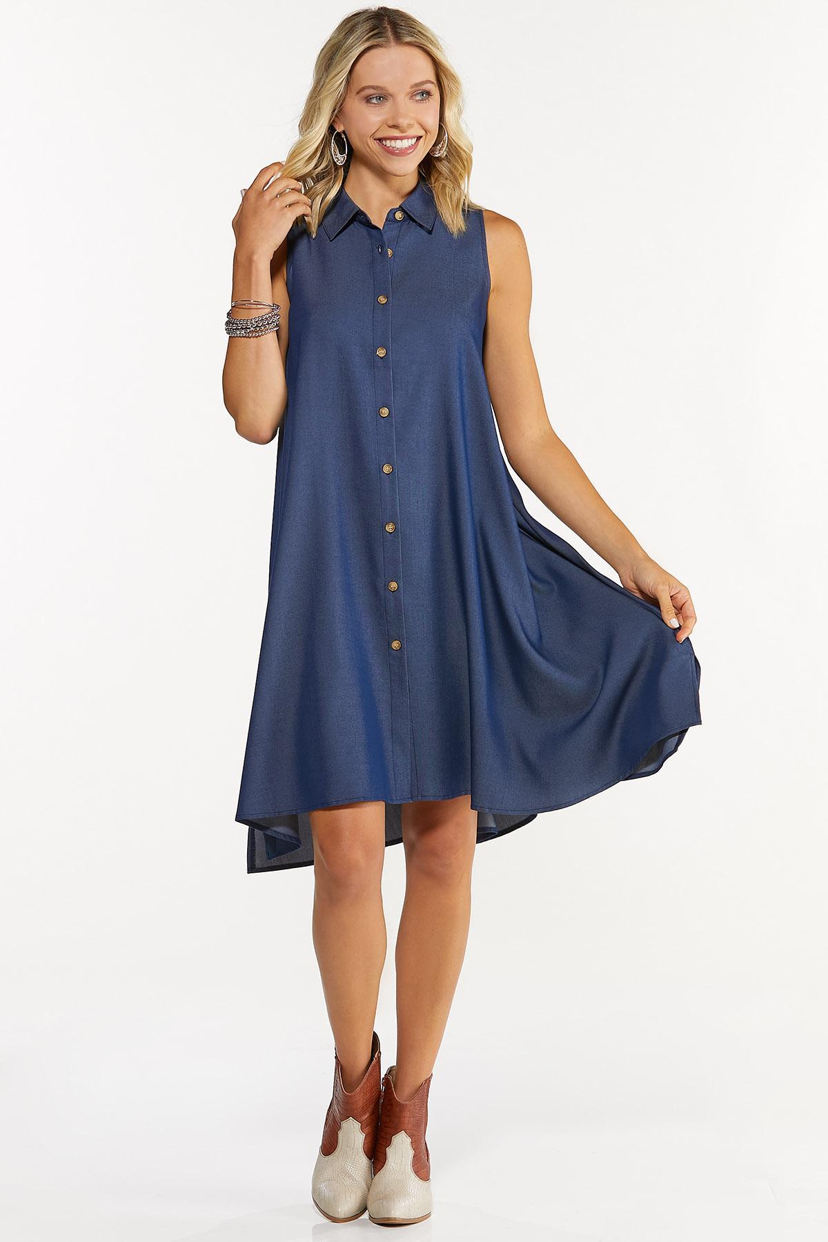 Chambray Swing Dress