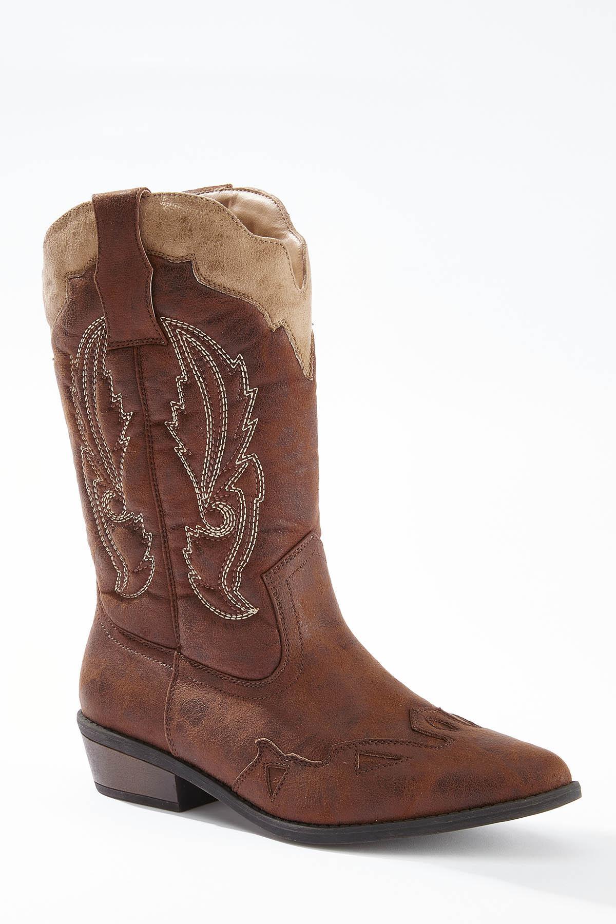 Wide Width Western Boots