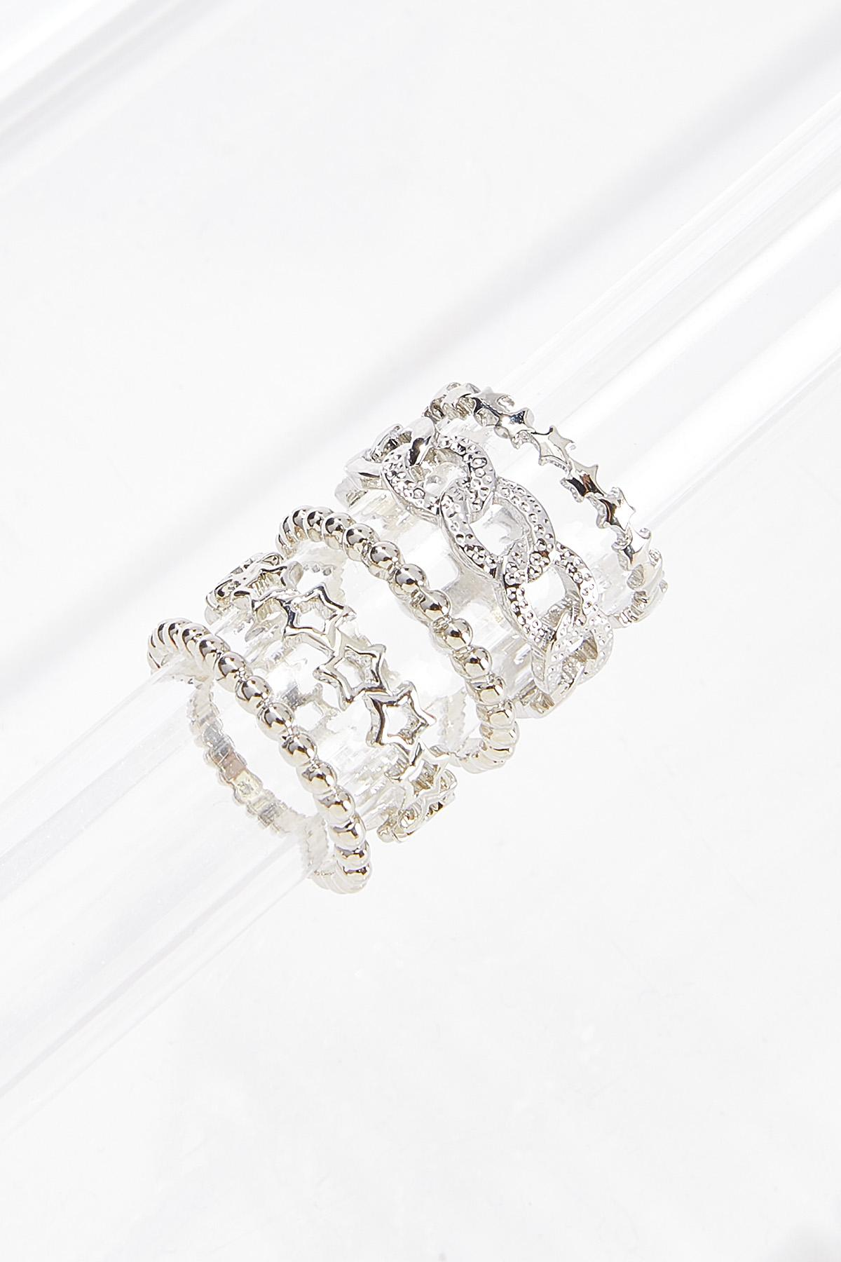 Assorted Silver Ring Set