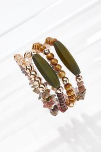 Olive Wood Bracelet Set