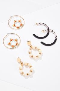 Neutral Mixed Earrings Set