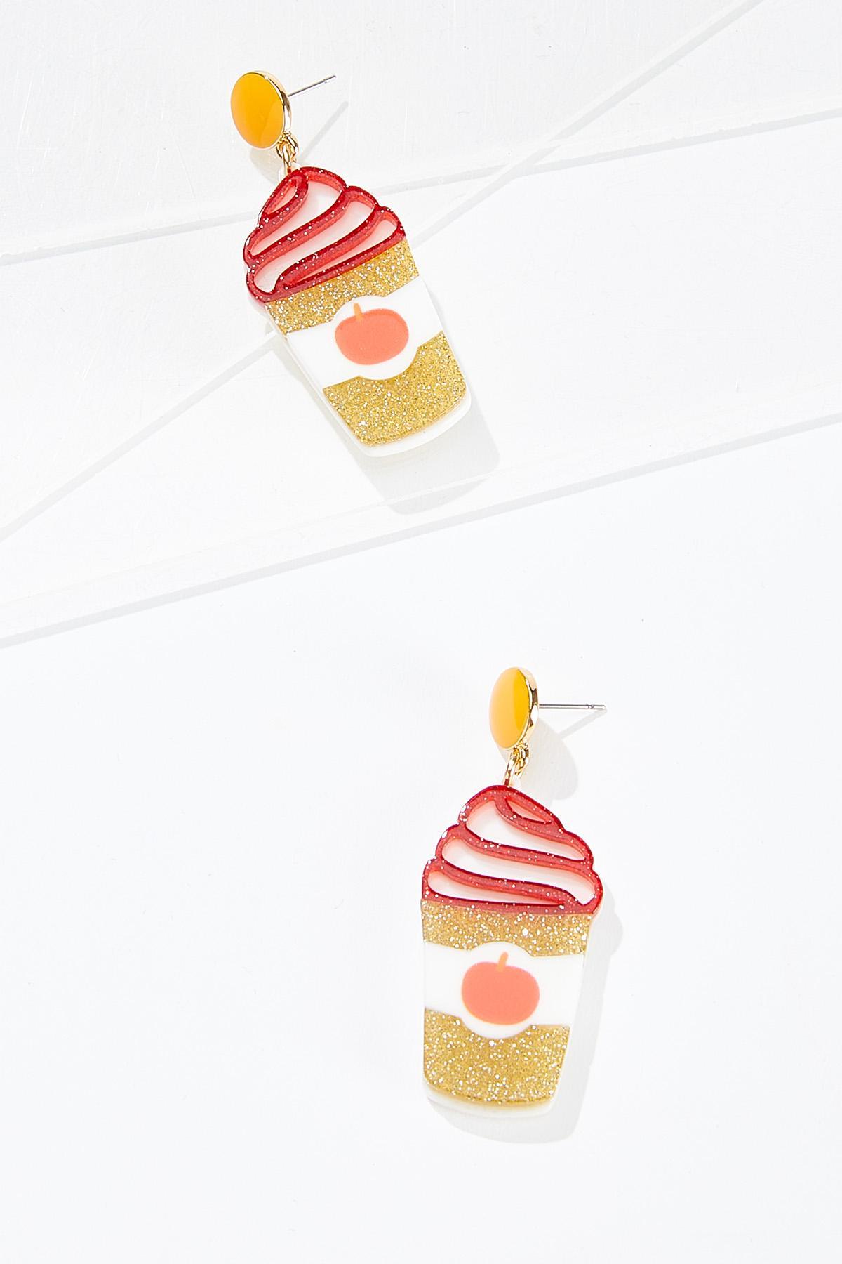 Pumpkin Spice Latte Earrings