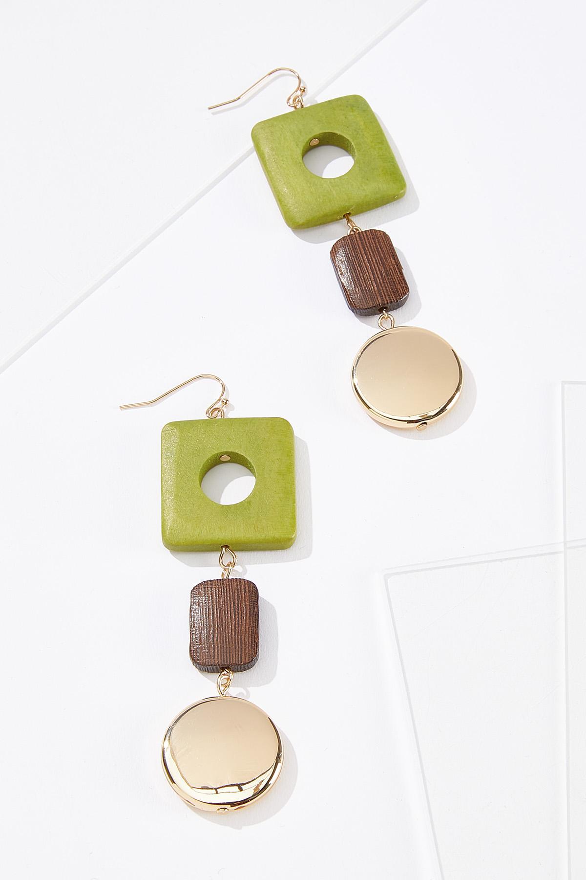 Lime Wood Earrings