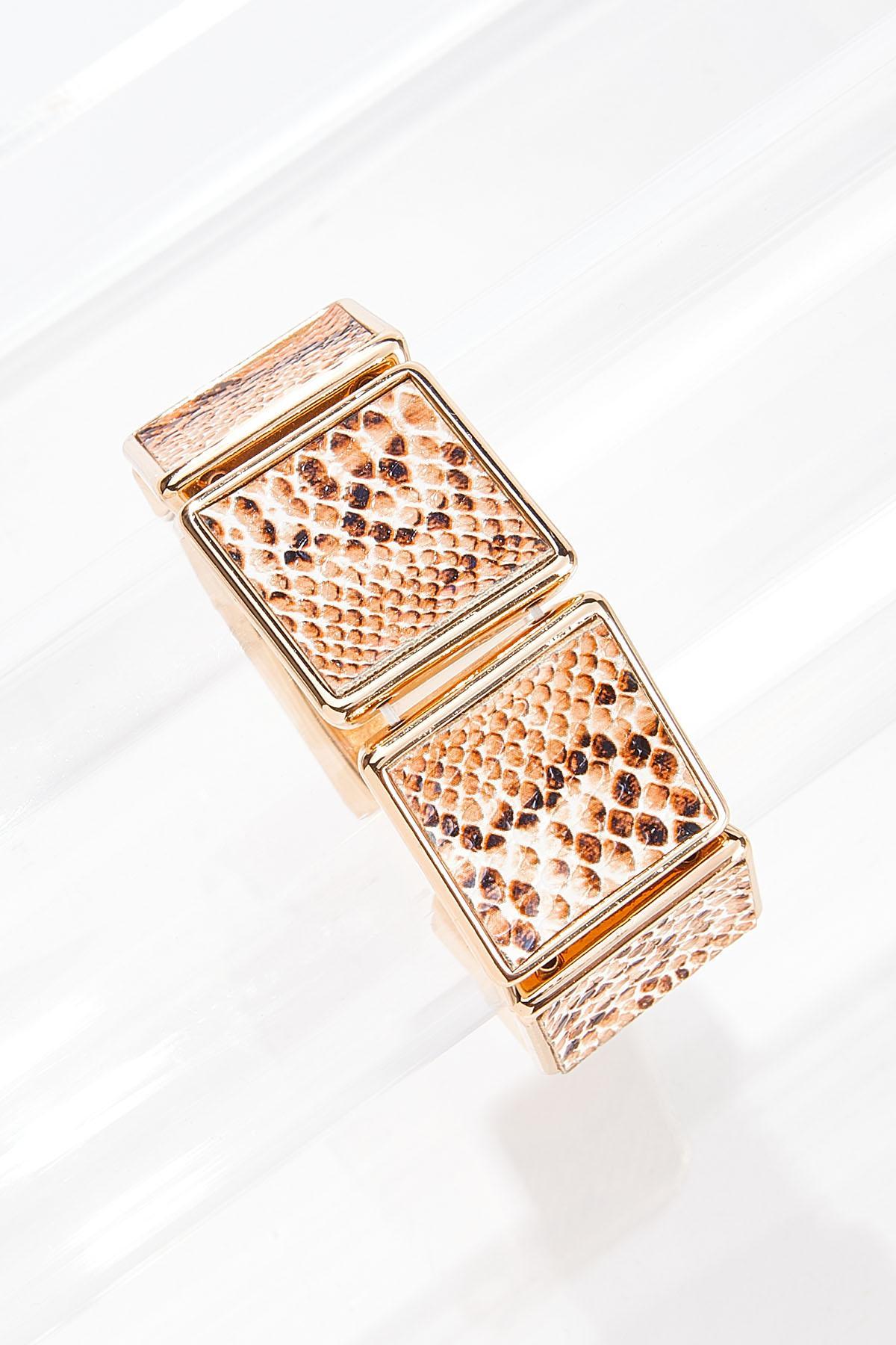 Textured Snake Stretch Bracelet
