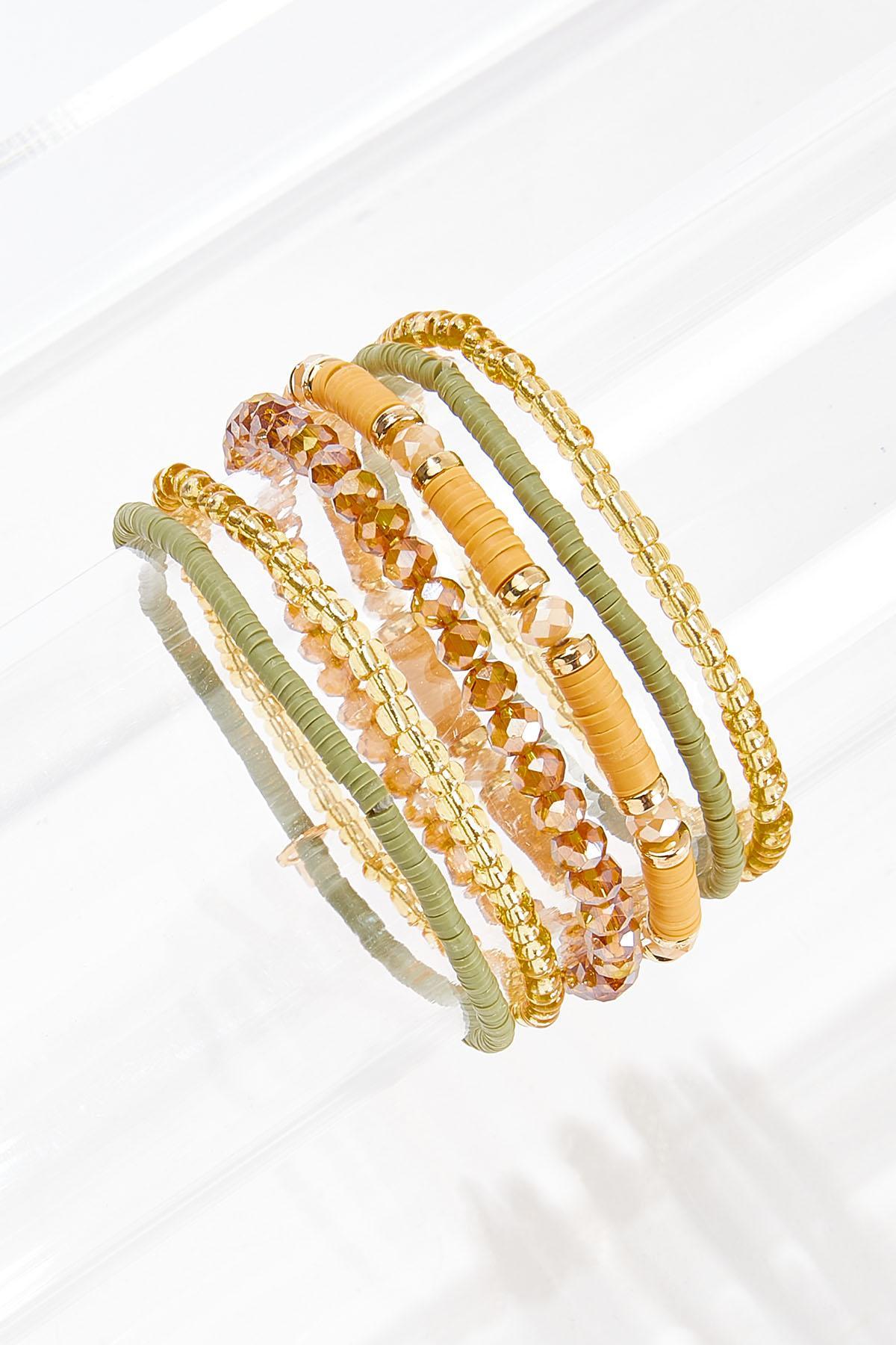 Mixed Gold Olive Bracelet Set