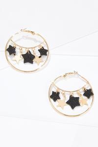 Shining Star Hoop Earrings