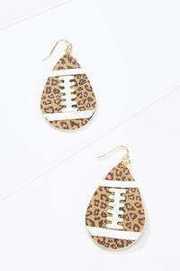 Leopard Football Earrings