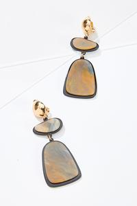 Geo Lucite Clip-On Earrings