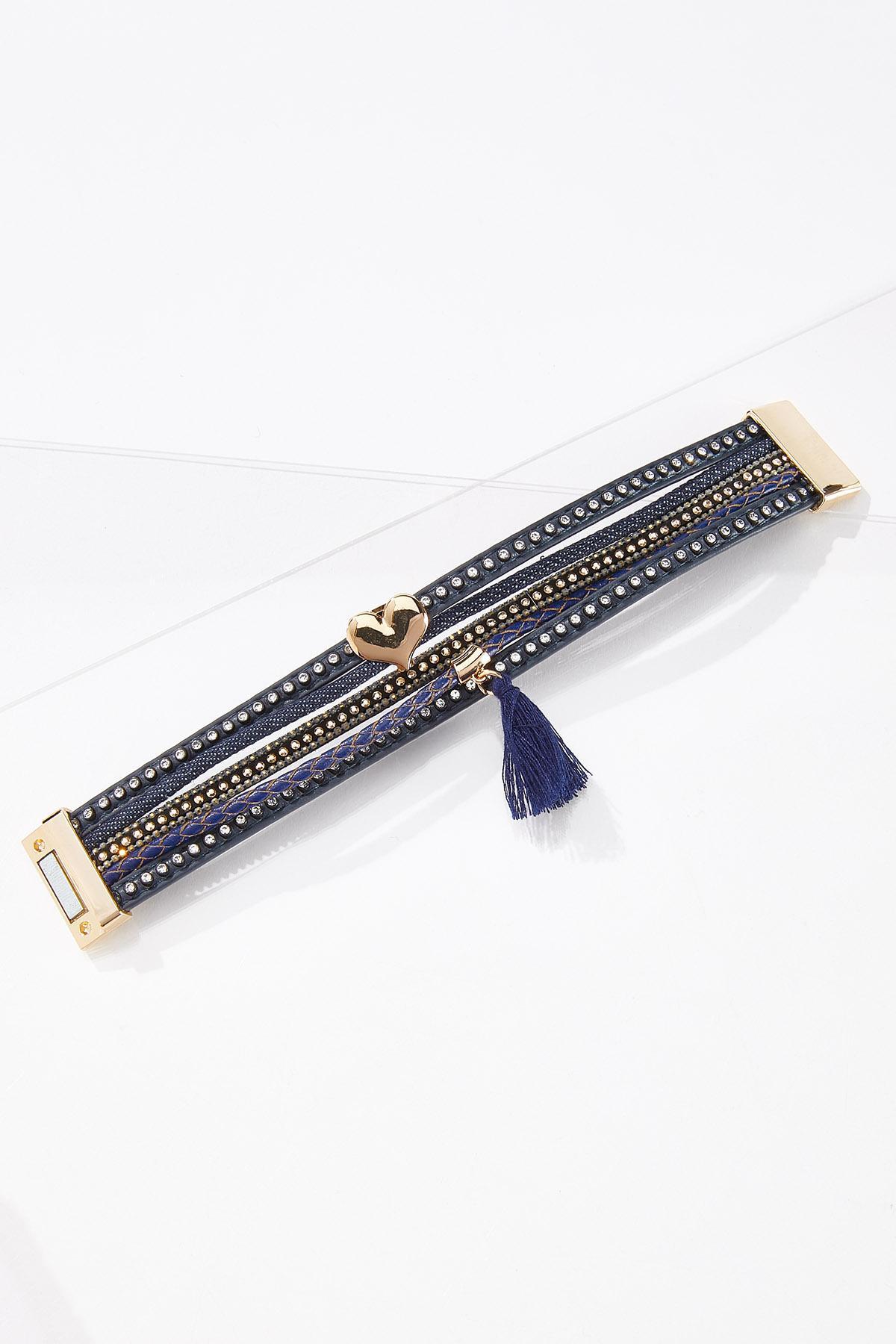 Denim Faux Leather Bracelet