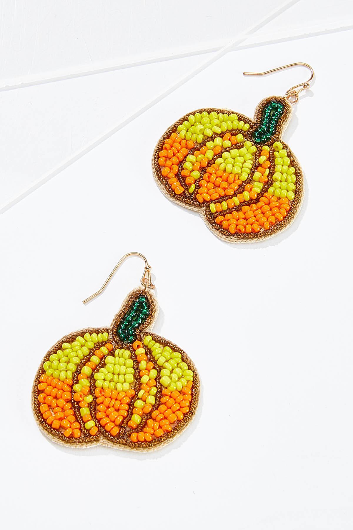 Pumpkin Seed Bead Earrings