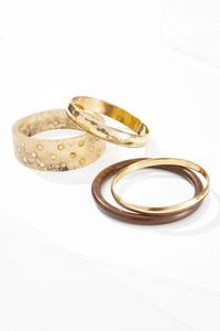 Earthy Mix Bangle Bracelet Set