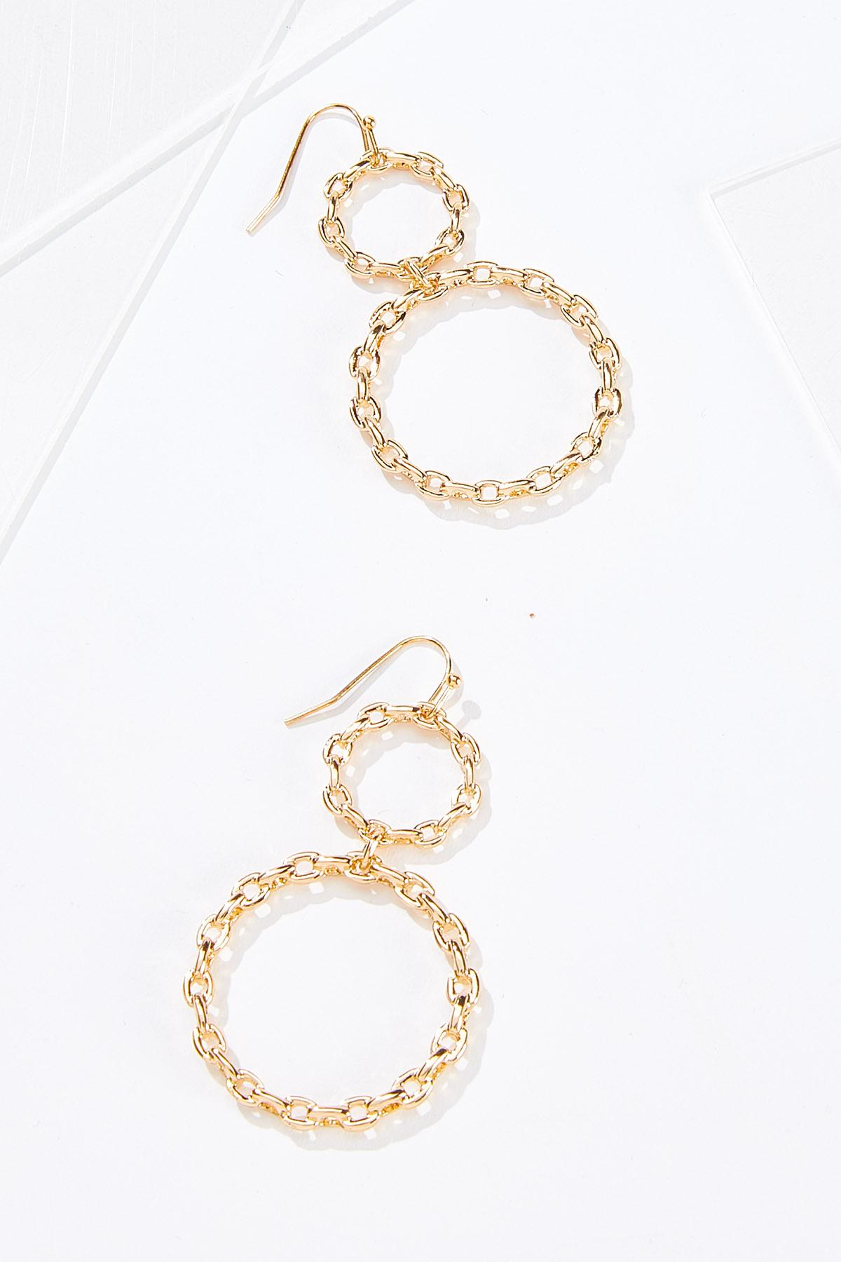 Tiered Chain Ring Earrings