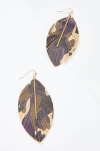 Camo Leaf Earrings