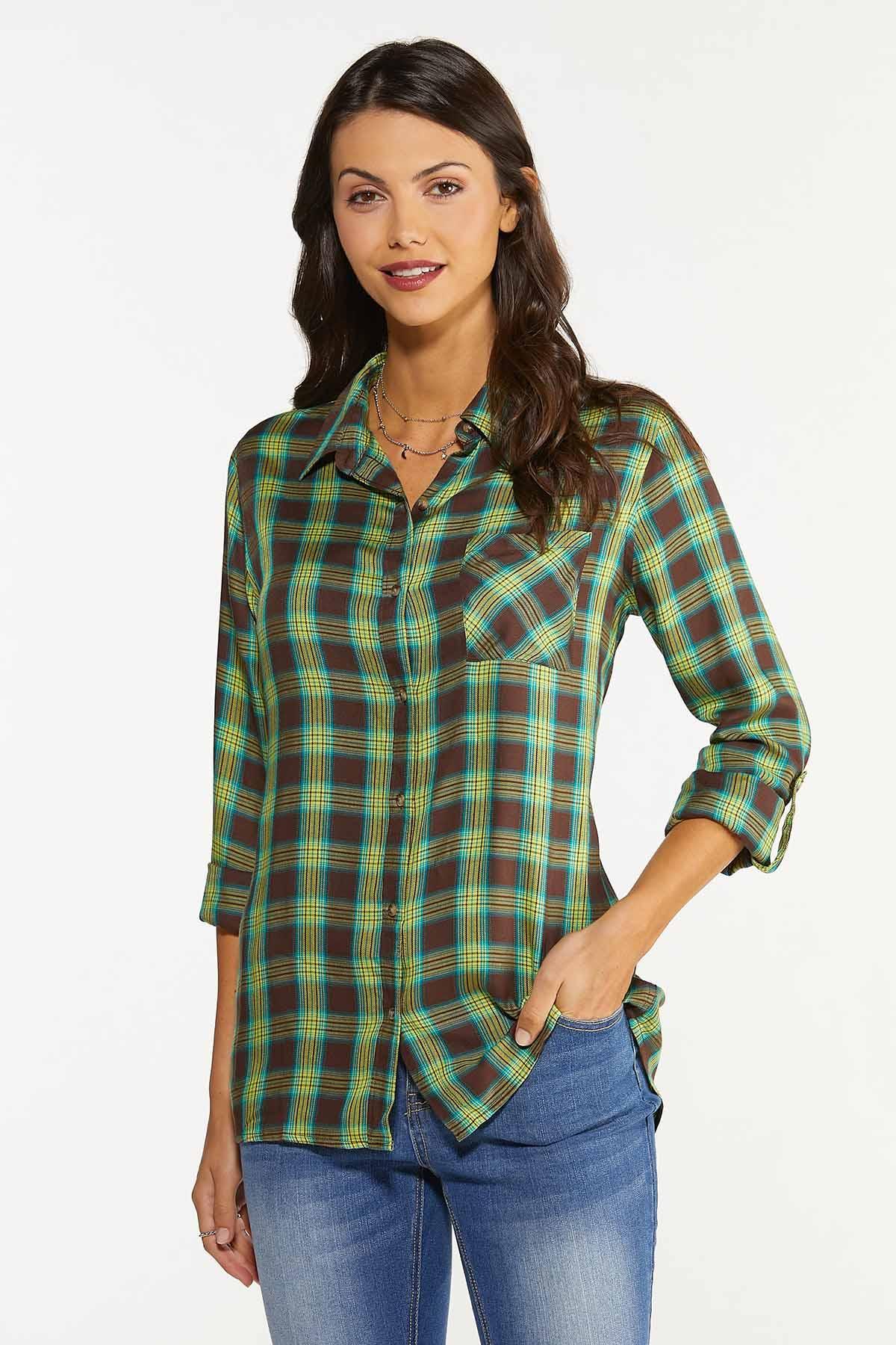 Fields Of Green Plaid Shirt