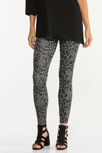 Petite Leopard Ponte Leggings