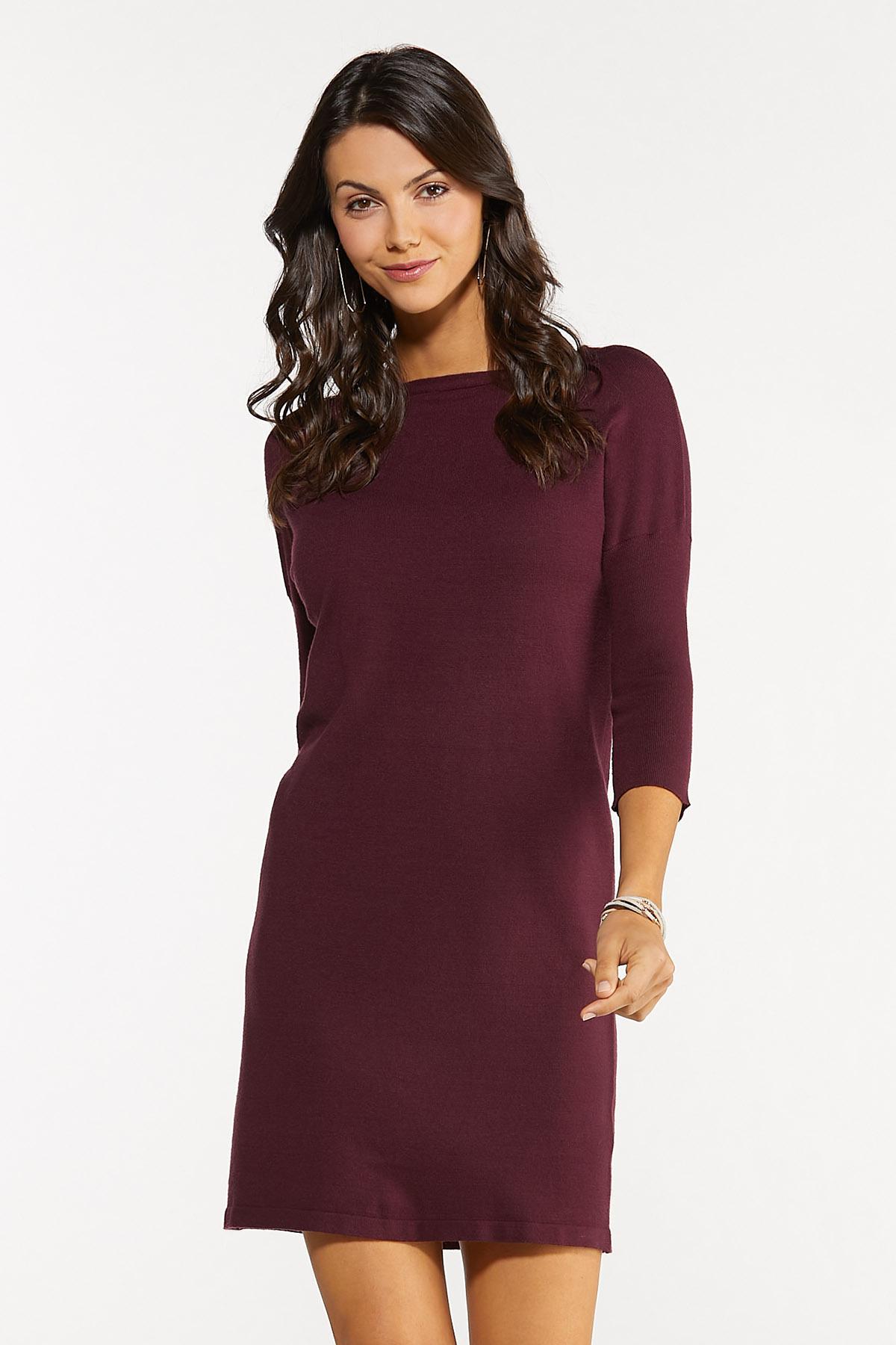 Wine Sweater Dress