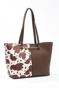 Cow Panel Bag-In-Bag Tote
