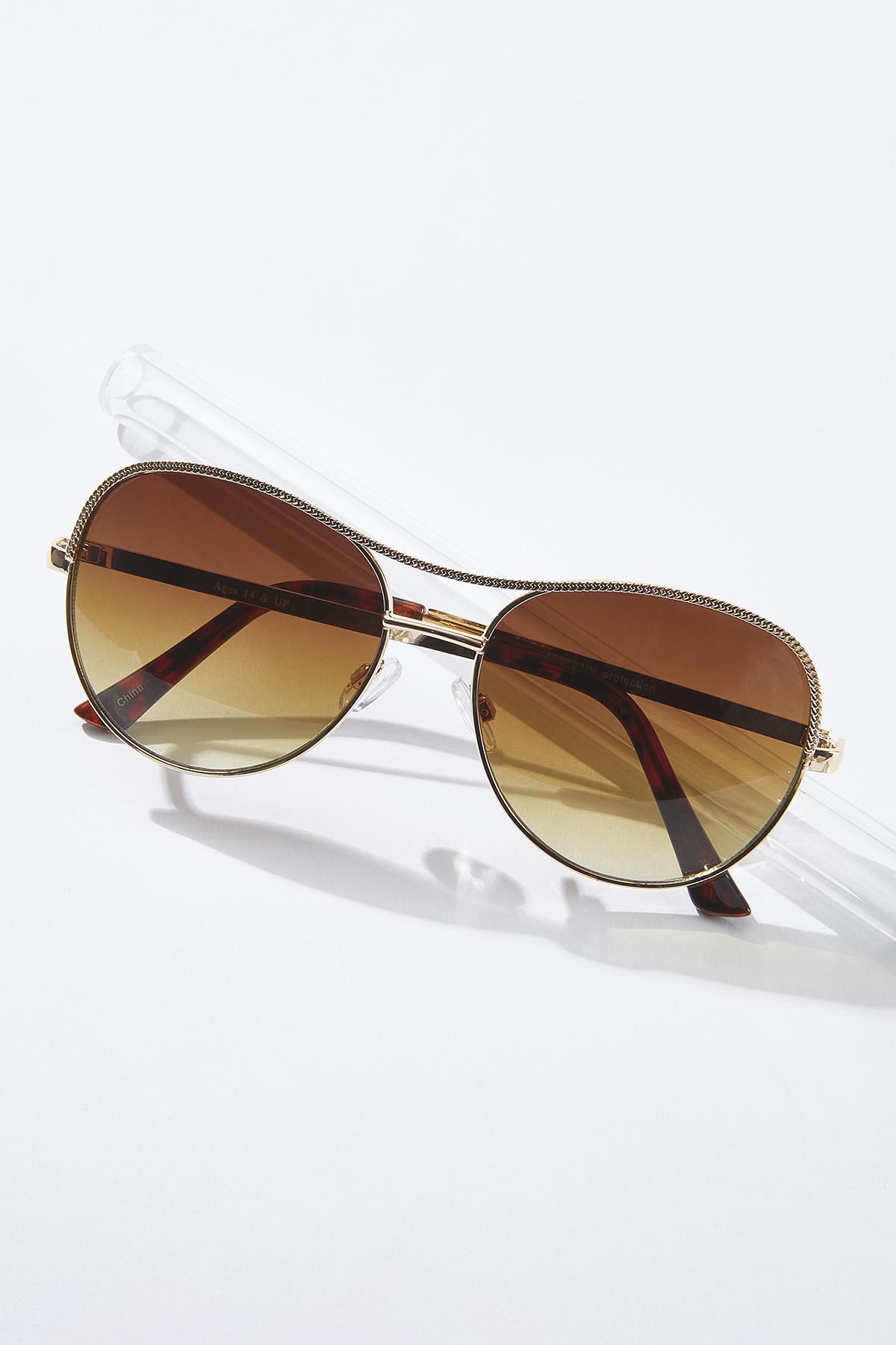 Gold Dust Aviator Sunglasses