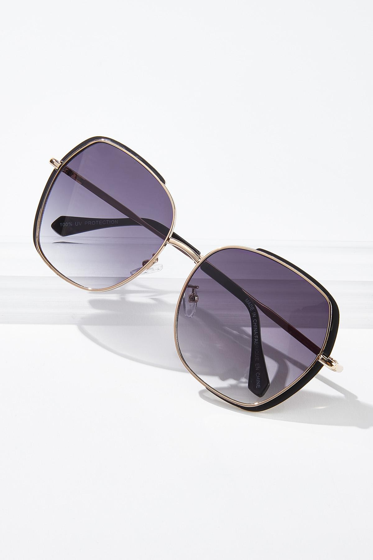 Black Gold Statement Sunglasses