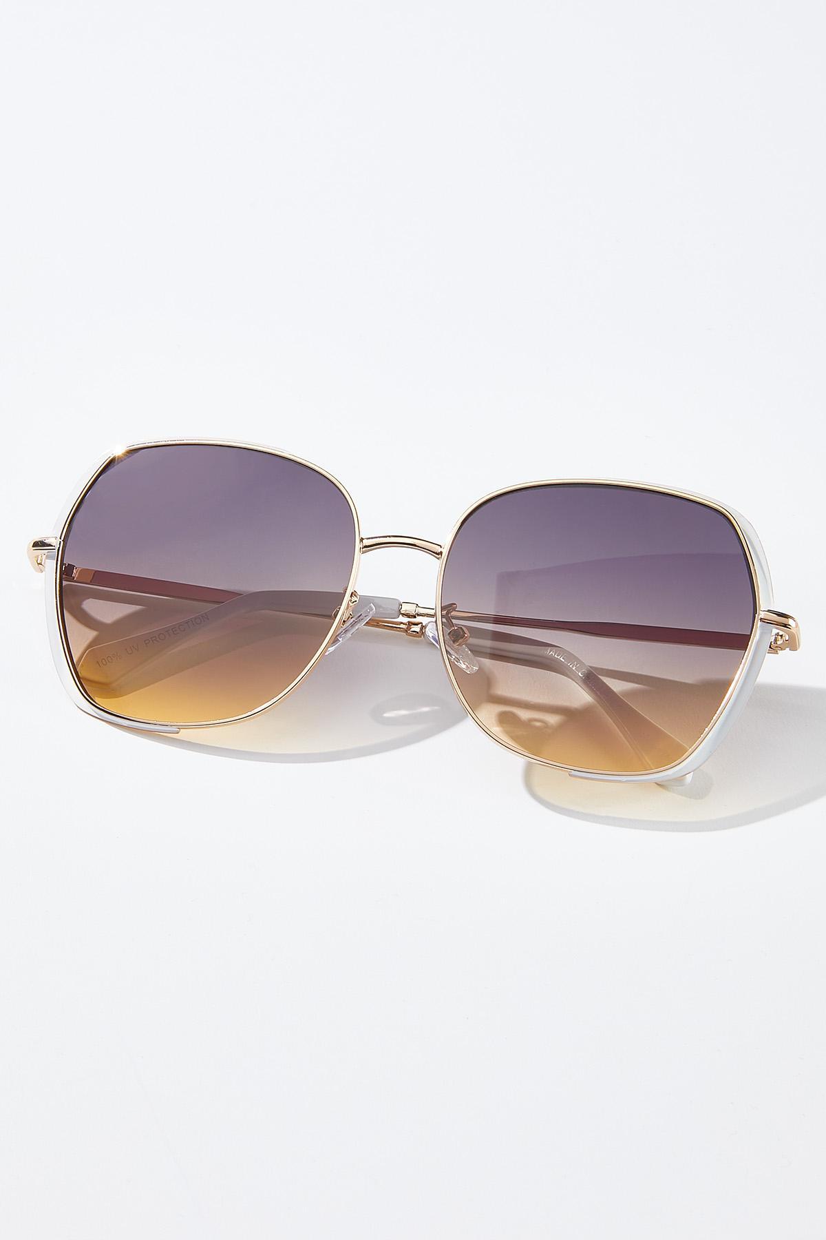 White Gold Statement Sunglasses