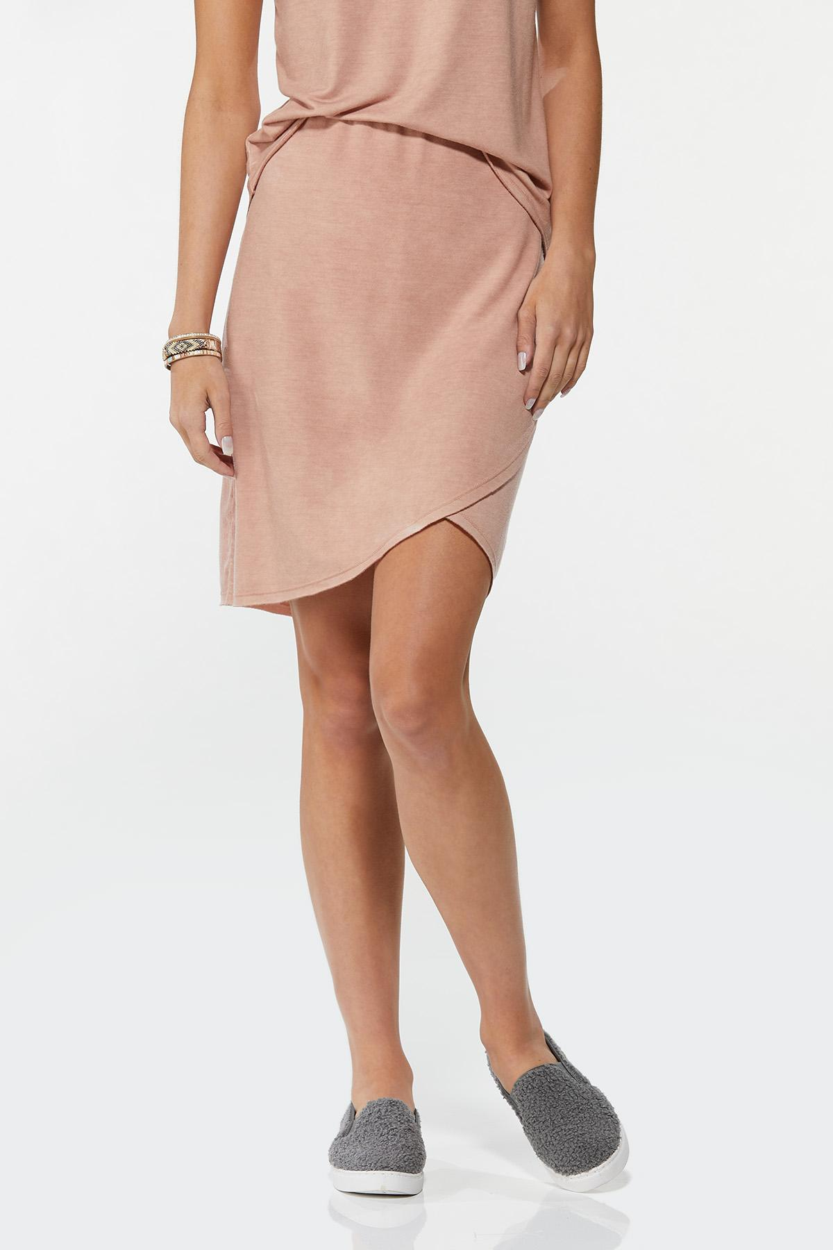 Stretchy Faux Wrap Skirt