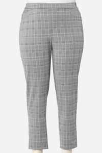 Plus Size Houndstooth Slim Pants