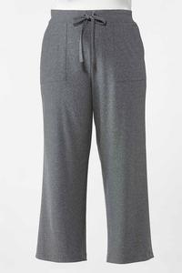 Plus Size Gray Drawstring Pants