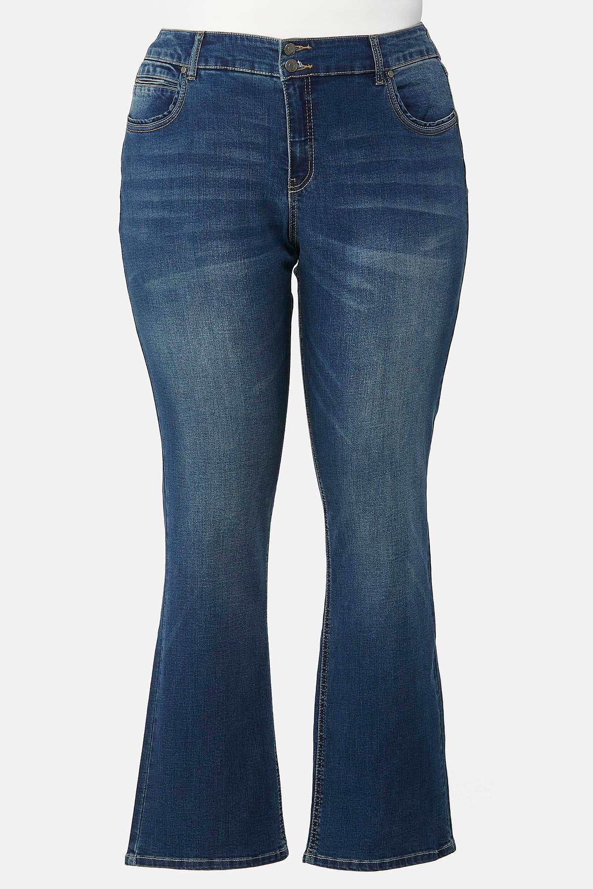 Plus Size Slimming Bootcut Jeans