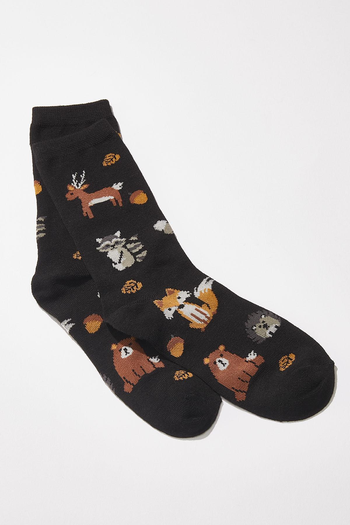 Forest Critter Socks