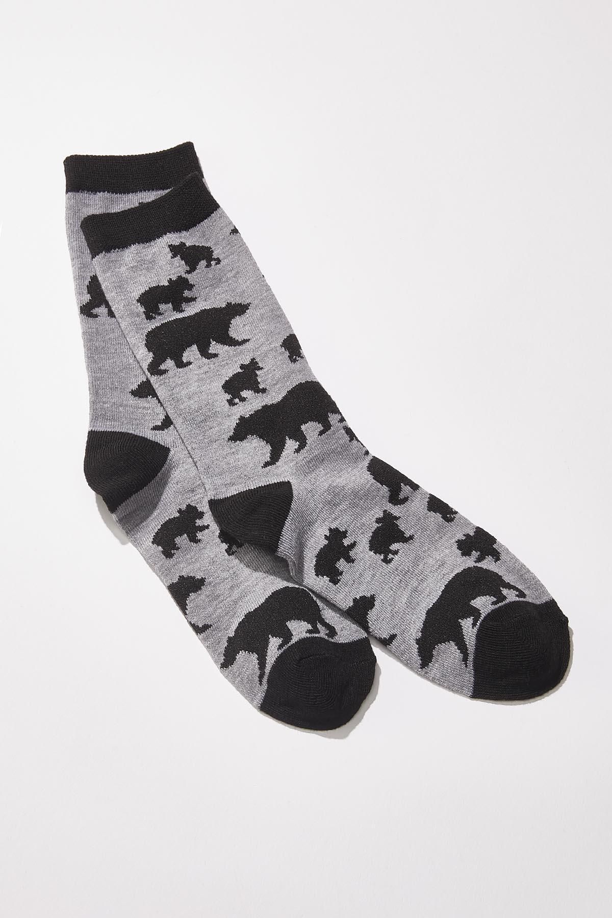 Bear Silhouette Socks