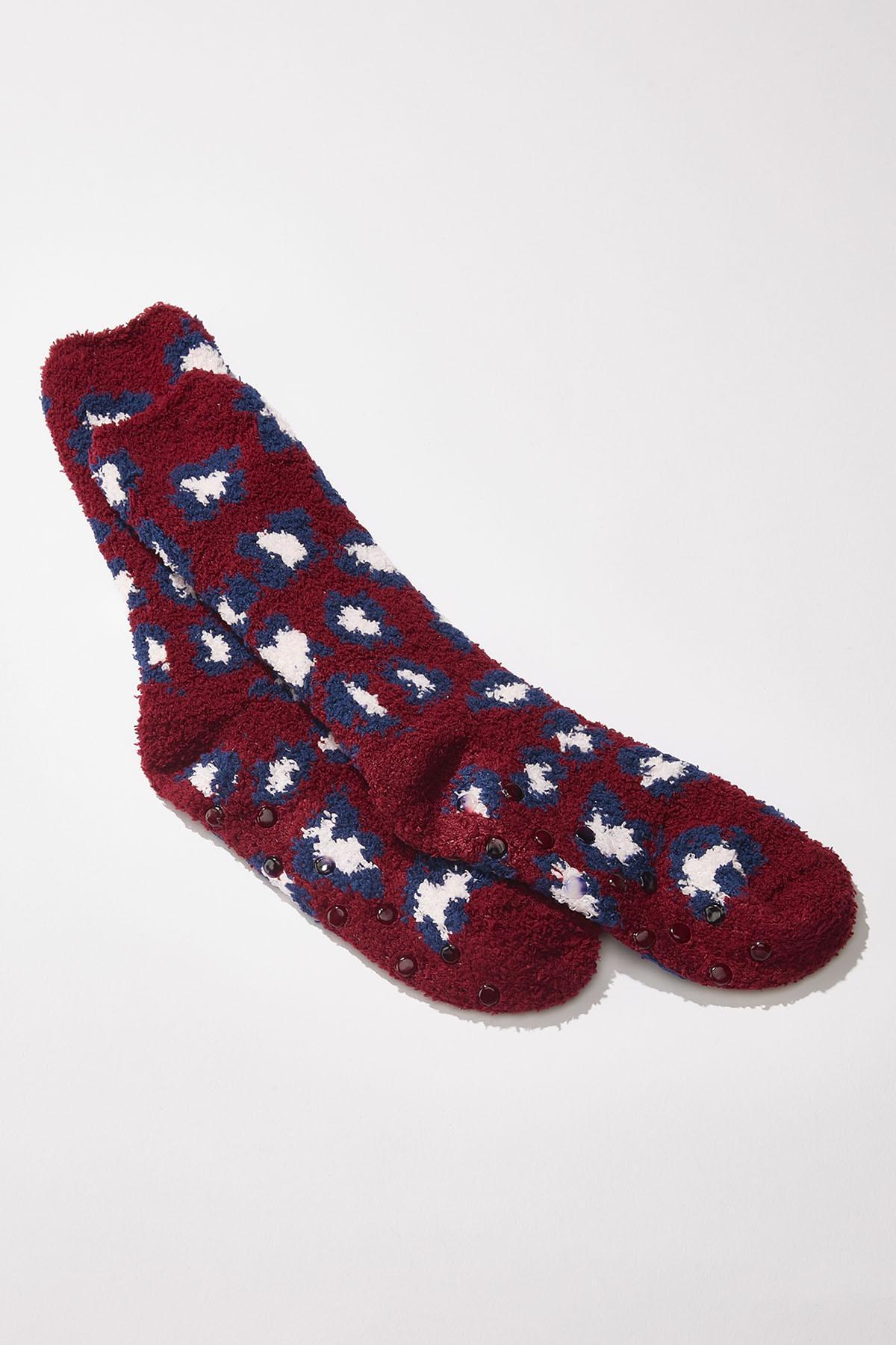 Leopard Slipper Socks