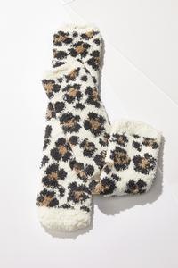 Fuzzy Leopard Socks