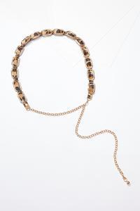 Leopard Inset Chain Belt