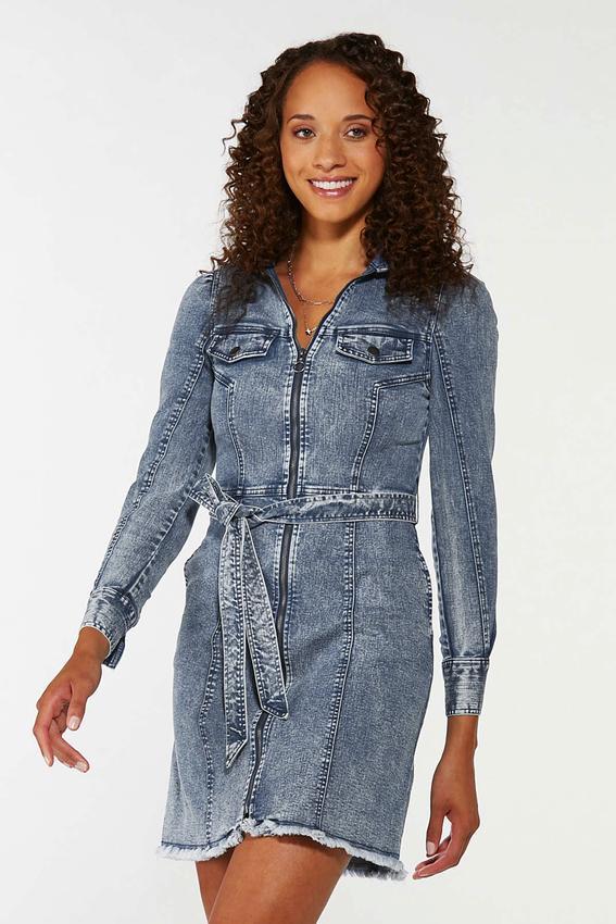 Plus Size Acid Wash Denim Dress